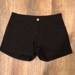 Women's Blue Asphalt Black Shorts